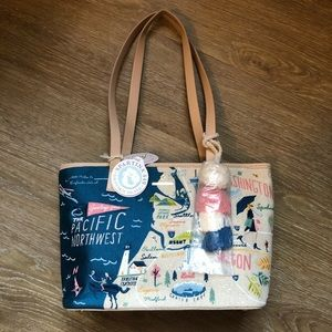 Spartina 449 Embroidered Pacific Alaska Tote NWT